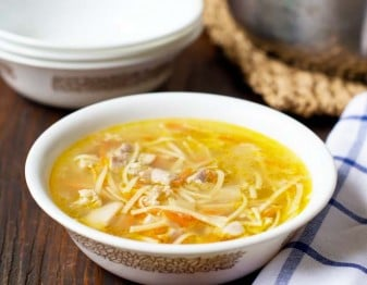 Lickety Split Chicken Noodle Soup