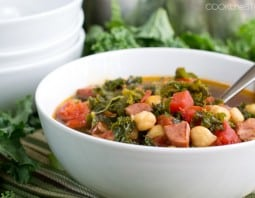 Quick Kale and Kielbassa Soup