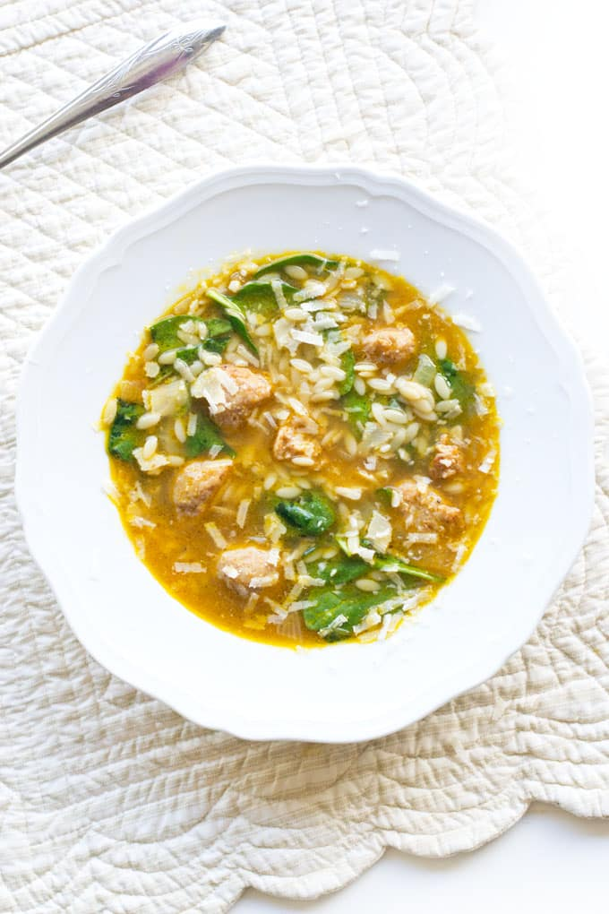 10 Techniques for Making Quickie Soups, Like how to make quick meatballs for an Italian Wedding Soup like this one.