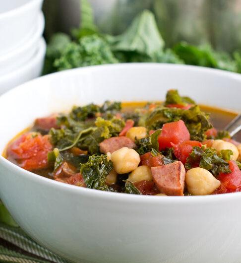 Kale and Keilbassa Soup