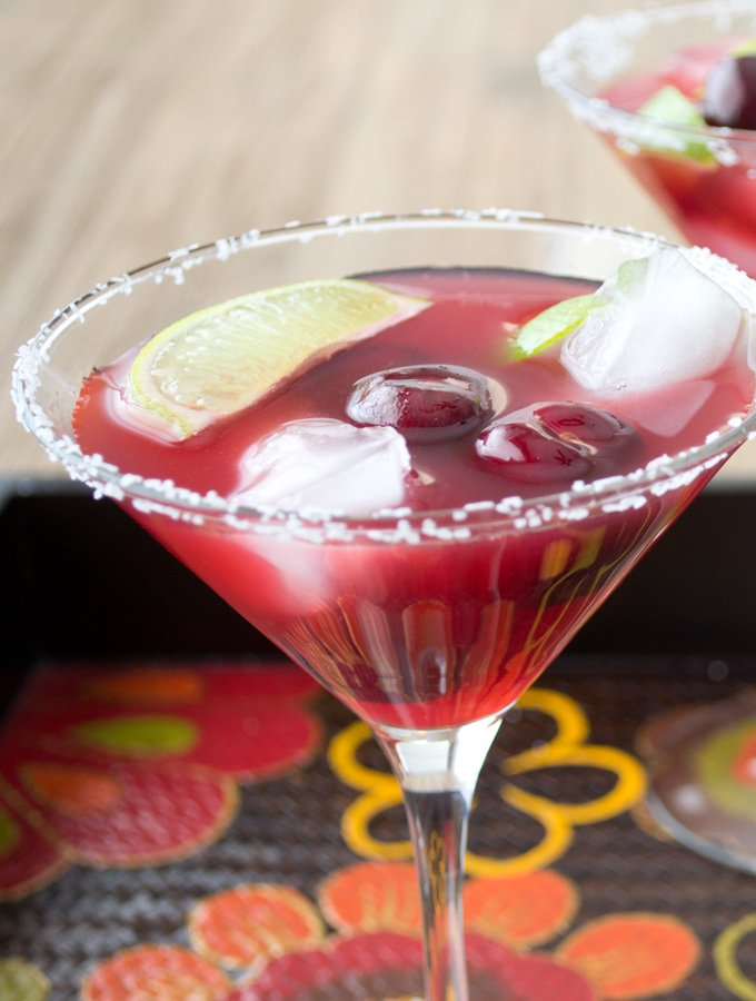 Cherry Lime Margarita, with a special secret ingredient!