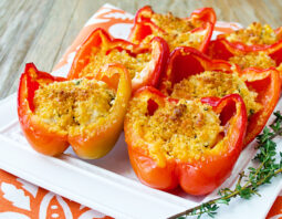 Lickety Split Chicken and Cheese Stuffed Peppers
