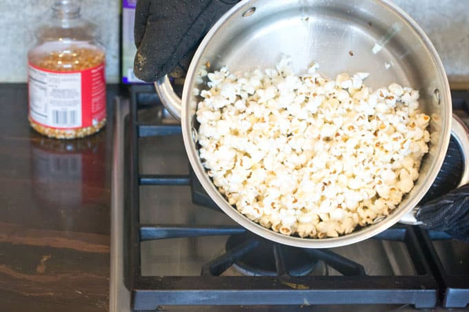 Not really a step. Just showing you the popcorn. Here it is.