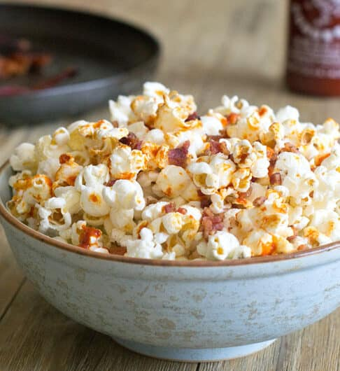 Sriracha Bacon Popcorn