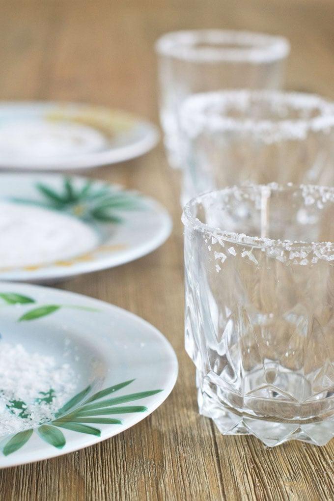 Coarse Sea Salt for Rimming a Margarita Glass