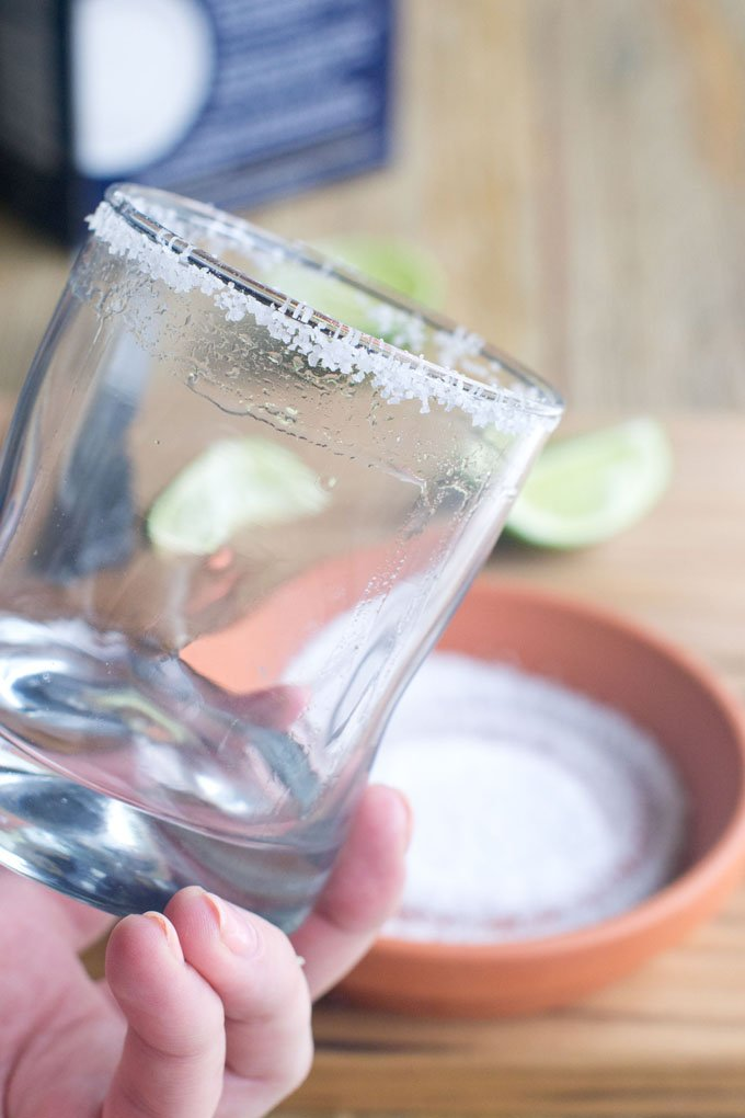 Done! Hold it up and admire your salted rim.