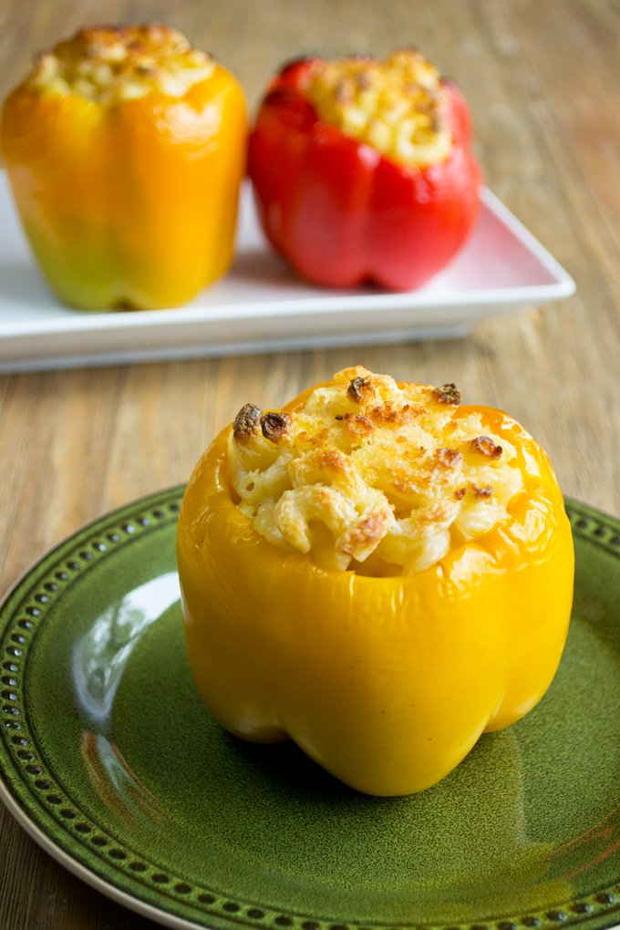 Macaroni and Cheese Stuffed Peppers