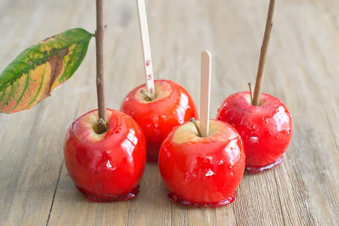 Different kinds of sticks to use in candy apples