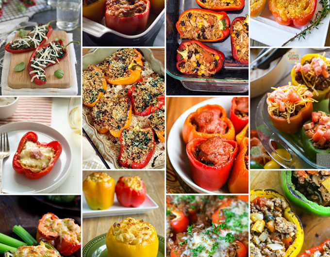 Although traditional filling for stuffed bell peppers is ground beef and rice, creative fillings for bell peppers are in style. From Cordon Bleu Stuffed Peppers to pizza and taco fillings galore, these 101 Stuffed Peppers have all your favorite trends covered.