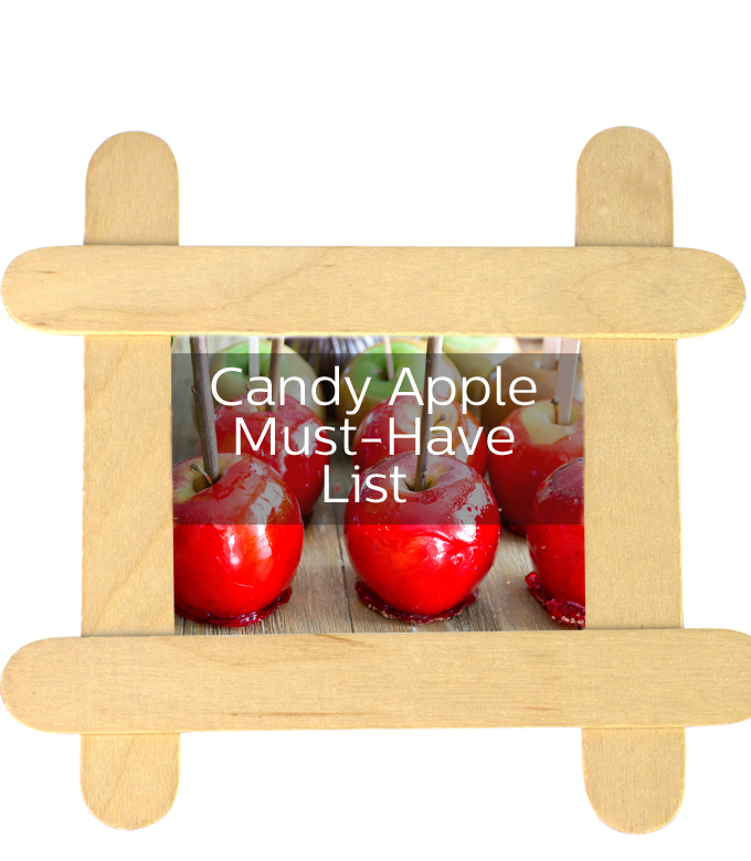 A buying guide with everything you need to make delicious candy apples and other fun candy-apple stuff too!
