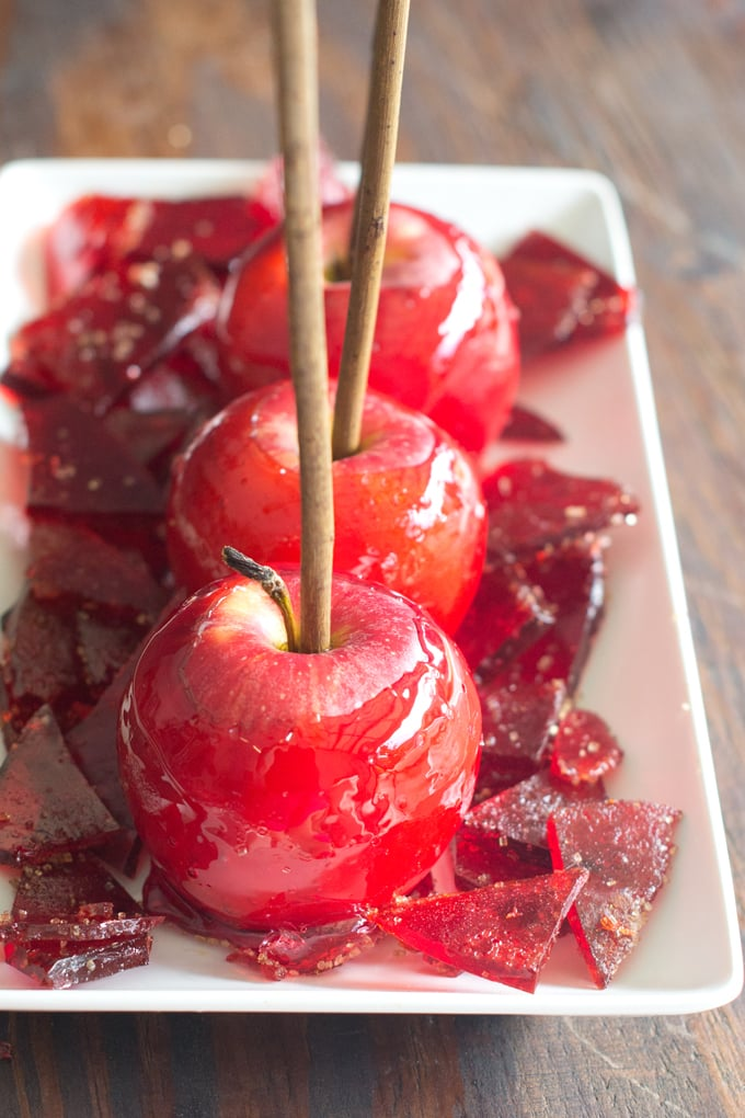 Candy Apple Candies Made from Leftover Candy Apple Coating