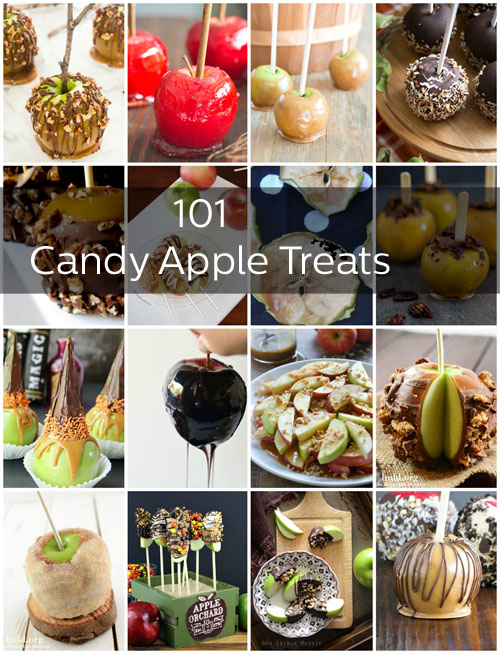 More than 101 candy and caramel apple recipes, from quick toppings to gourmet presentation. There's even a few cocktails to sip while you dip.