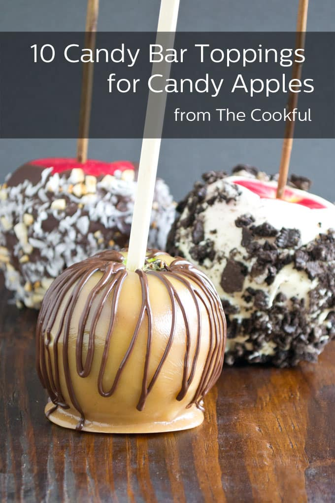 Candy apples get cranked up with these candy bar topping combos. Which will you choose? Snickers? Almond Joy? Milky Way? All three?