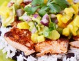 Caribbean Salmon Freezer Meal with Mango Salsa
