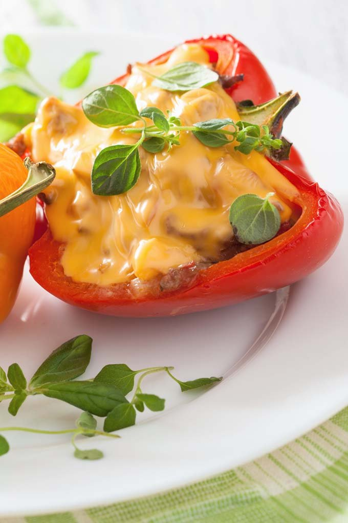 17 Cooked Fillings to Make for Stuffed Peppers (try taco ingredients topped with warm queso before serving)