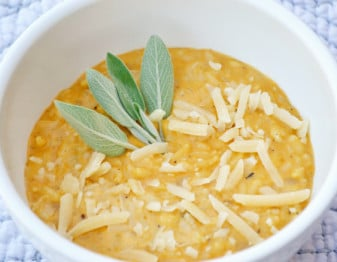 Freezer Meal: Savory Pumpkin Risotto