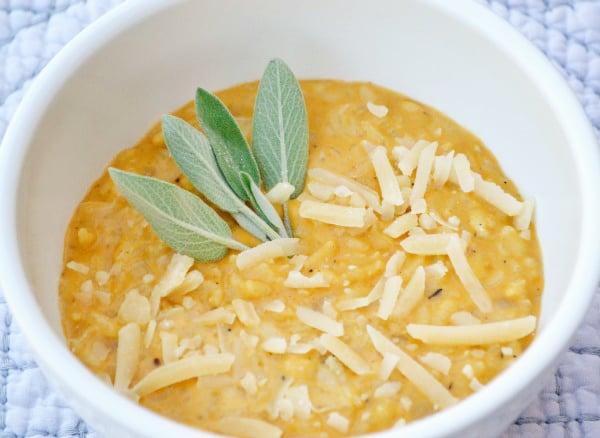 Freezer Meal: Savory Pumpkin Risotto
