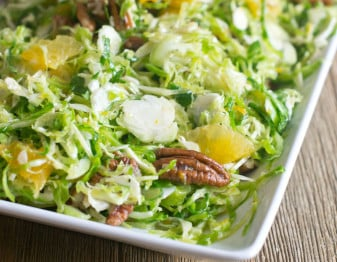 Brussels Sprouts Slaw with Pecans and Orange
