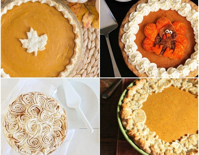 7 ways to decorate pumpkin pies for Apple pie decoration