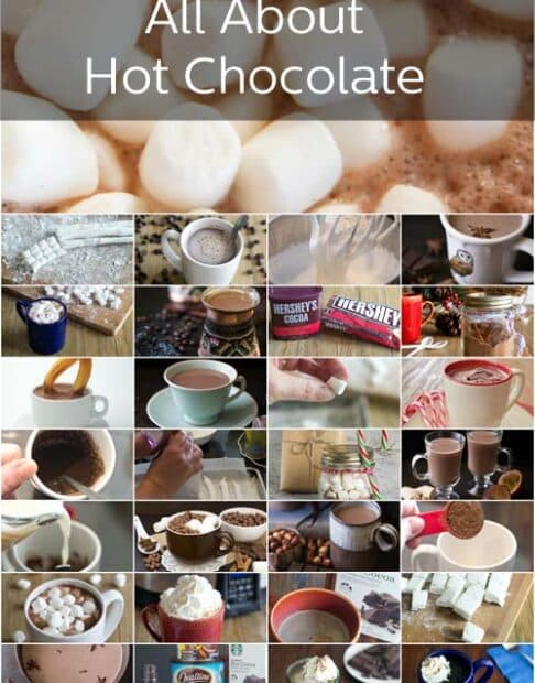 Hot Chocolate is our new topic. We've got recipes, how to's, taste tests and so much more