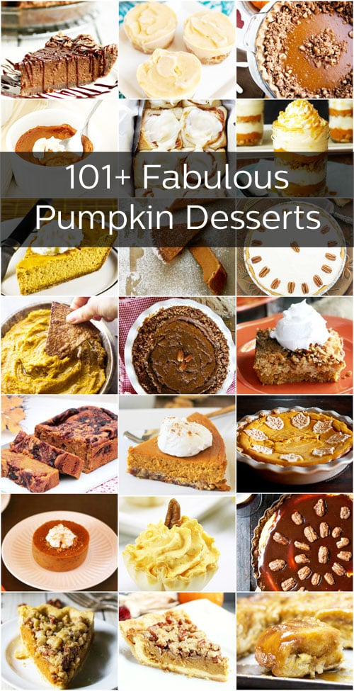 Pumpkin isn't all about pies. Heck no! We rounded up more than 101 Pumpkin dishes that feature fall's favorite gourd.