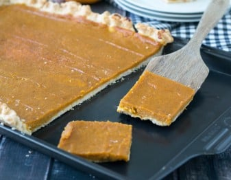 Pumpkin Slab Pie for 24 People