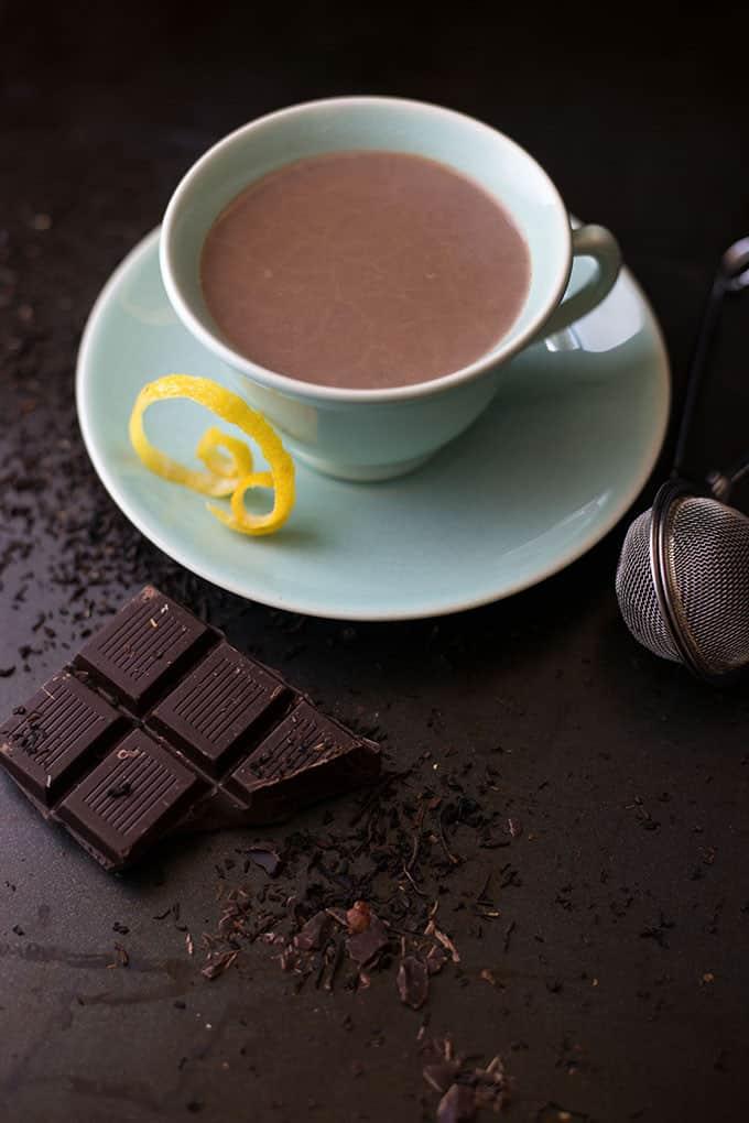 Lemon Earl Grey Hot Cocoa