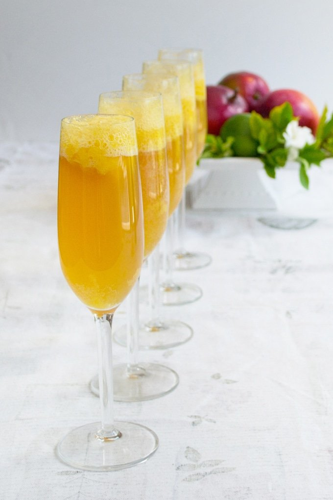 Learn how to make this delicious mango twist on the classic Bellini.