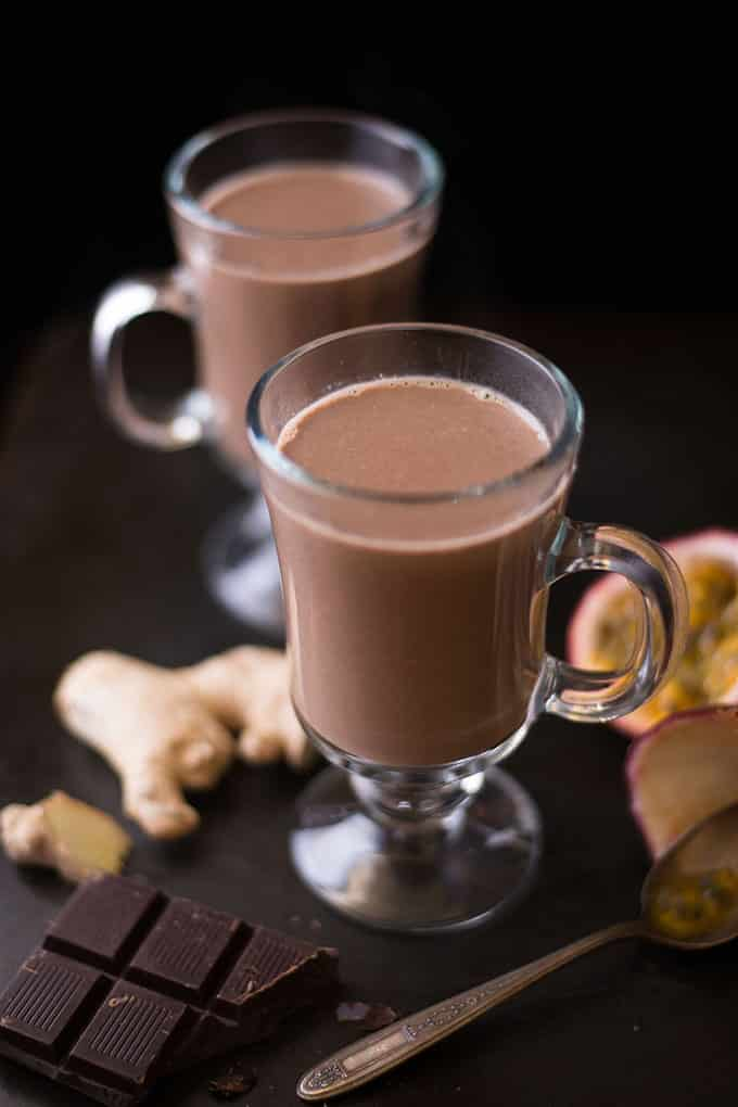 Ginger and Passion Fruit Hot Cocoa