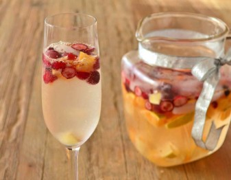 Champagne Sangria for the Holiday Season