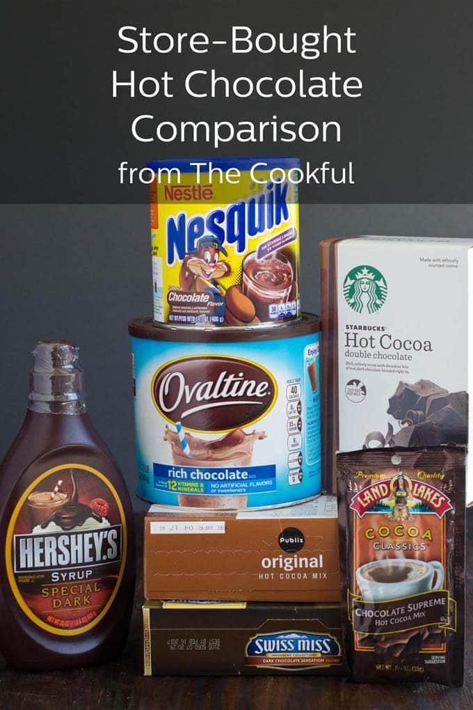 Store-bought Hot chocolate comparison