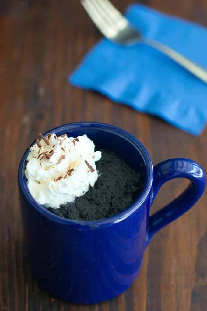 Hot Chocolate Mug Cake in the Microwave