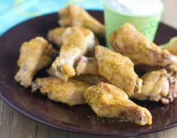 Crispy Indian Dry Wings with Yogurt Dipping Sauce