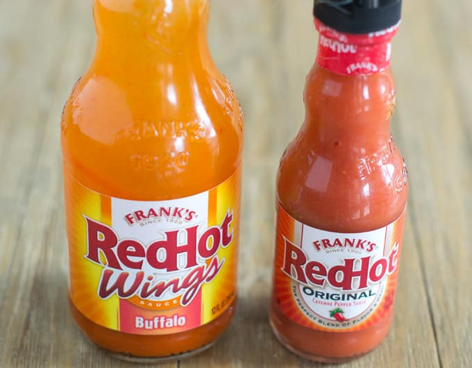 All hot sauces used on hot ones