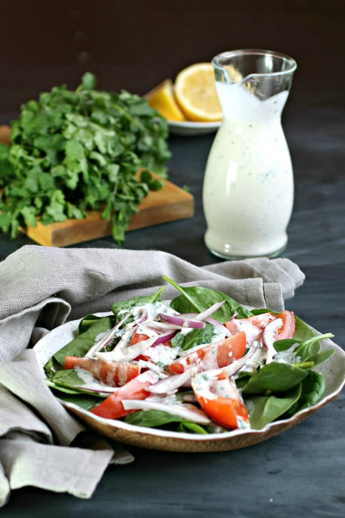 how to make tahini salad dressing