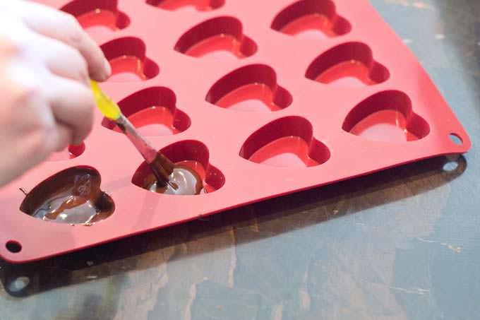 Painting chocolate