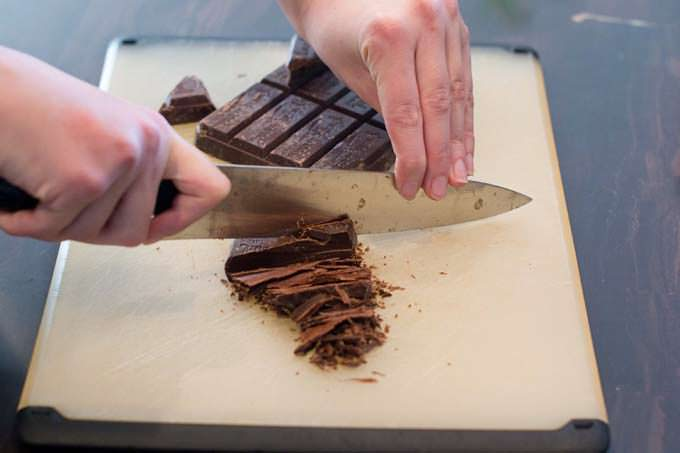 Cutting chocolate