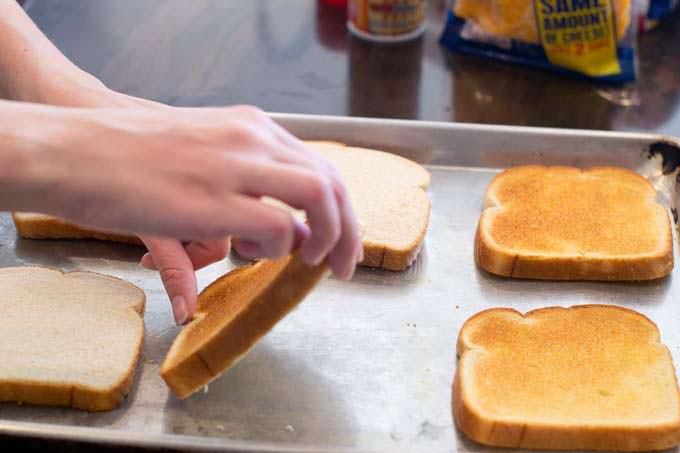 flip the bread over