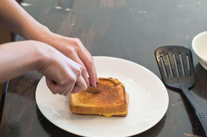 cut sandwiches apart