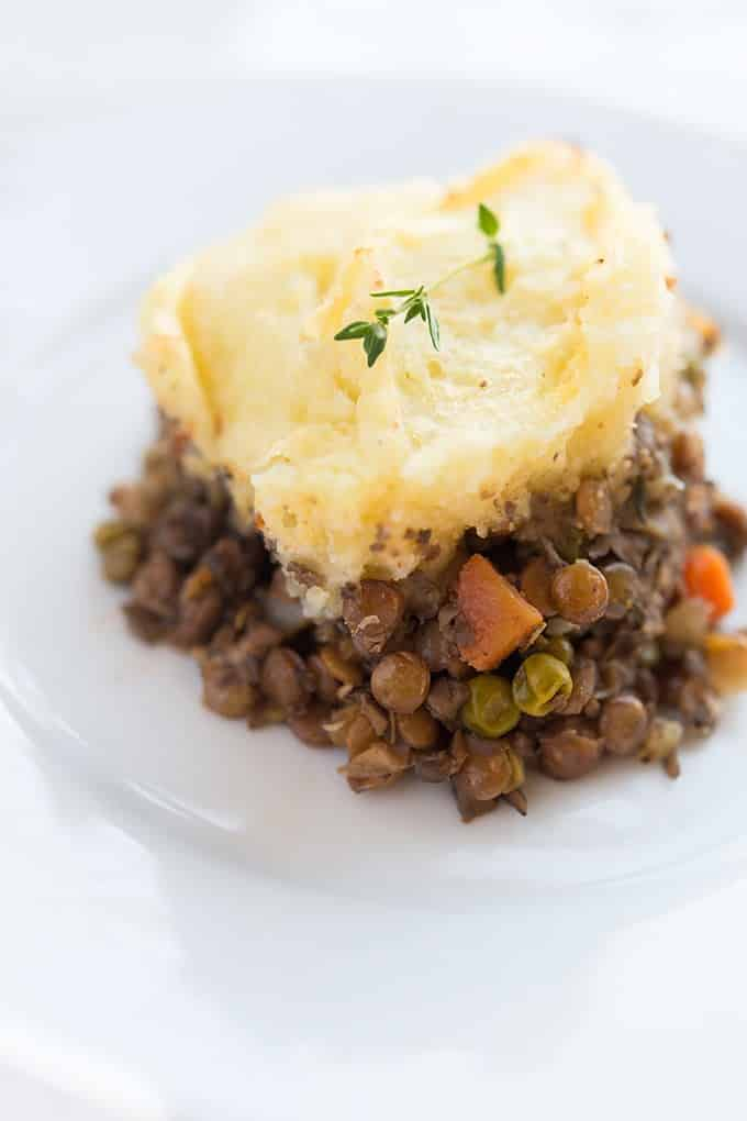 Piece of Vegetarian Shepherd's Pie