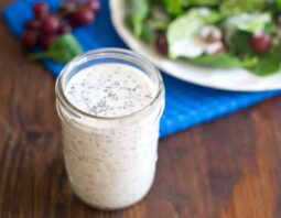 Lemon Poppy Seed Dressing with Greek Yogurt