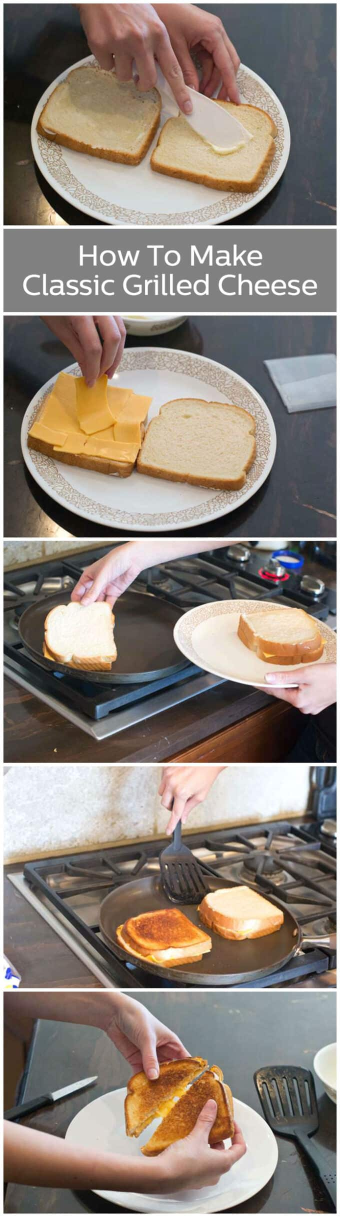 The perfect classic grilled cheese, step-by-step