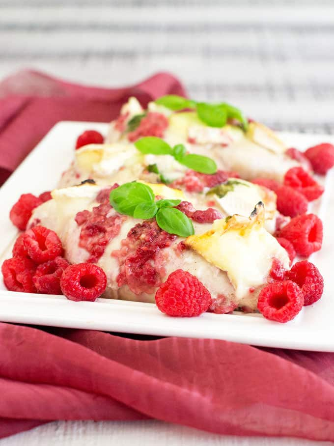 Chicken with Raspberries and Basil