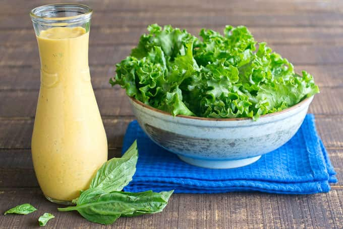 Carrot, Basil and Cream Cheese Salad Dressing