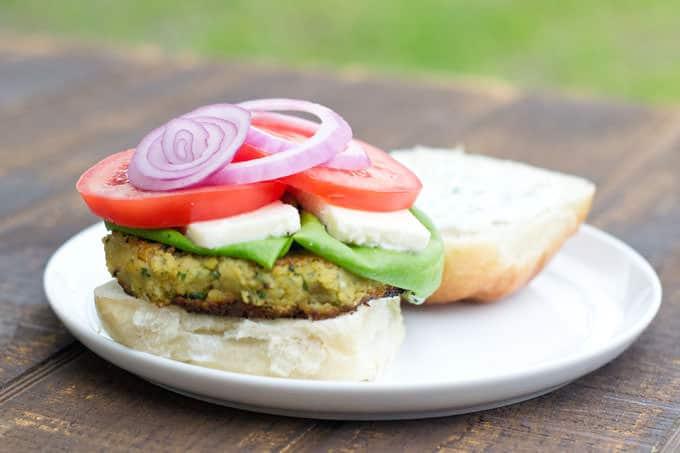 Falafel Inspired Burger