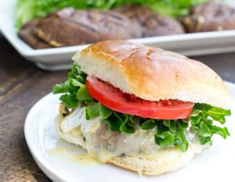 Vegetarian Portobello Burgers with Brie