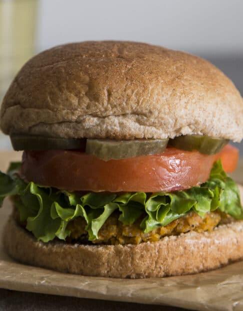 Vegan Burger with Sweet Potato and Quinoa