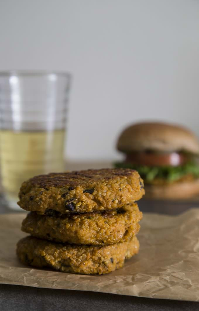 Vegetarian Gluten-Free Sweet Potato and Quinoa Burger