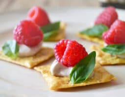 Raspberry Basil Canapes
