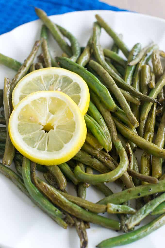 Lemon Pepper Marinated Green Beans